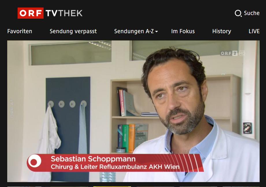 "Univ.-Prof. Dr. Sebastian Friedrich SCHOPPMANN im ORF-Magazin ""Bewusst gesund"""