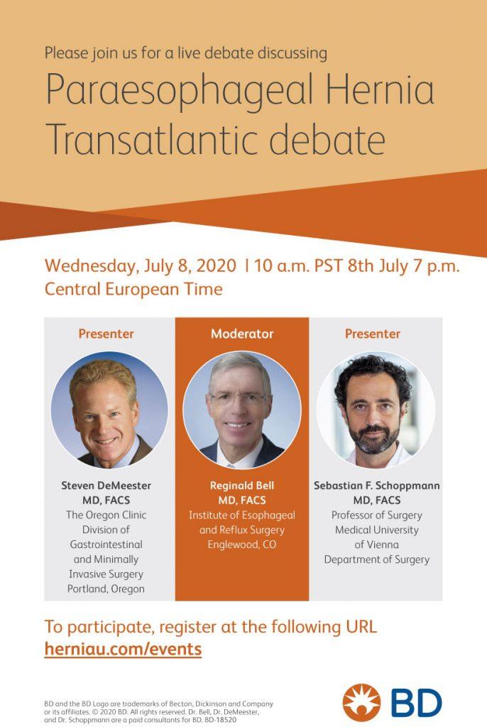 Paraesophageal Hernia Transatlantic Debate